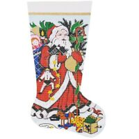 Needlepoint Handpainted LEE Christmas STOCKING Kris Kringle 23""