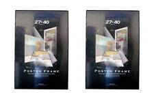 Value Pack Two 27x40 Movie Poster Frames with Black Edges Assembled
