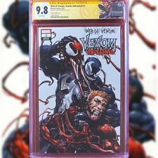 WEB OF VENOM VENOM UNLEASHED #1 CRAIN VARIANT CGC 9.8 SS SIGNED BY CLAYTON CRAIN