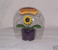 Light Activated Solar Dancing Sunflower Leaves W/Veins & Flower Move Purple New