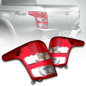 RED&CLEAR LENS TAIL LIGHT REAR LAMP FOR MITSUBISHI TRITON MQ 2015 16 17 18