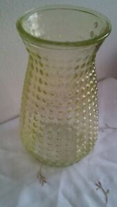 DPS Rare Vintage Textured Dots Light Green/Yellow XL 10in × 6in Glass Vase (WOW)