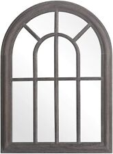 Arched Decorative Torched Wall Mirror Hanging Wall Mount Rustic Frame Farmhouse