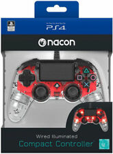 CONTROLLER NACON WIRED PS4 LUMINOSO COMPACT LIGHT EDITION LED ROSSO PAD NUOVO