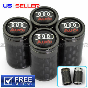 VALVE STEM CAPS WHEEL TIRE CARBON FIBER 4PC 2 COLOR OPTION