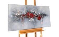 Acryl Gemälde 'ABSTRAKT ROT GRAU STRUKTUR' | HANDGEMALT | Leinwand Bilder  ...