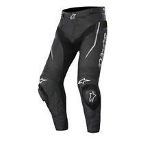 Pantaloni neri marca Alpinestars per motociclista pelle