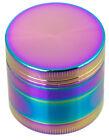 "1.6"" 40MM 4 Layer Metal Tobacco Crusher Hand Muller Smoke Herbal Grinder Rainbow"