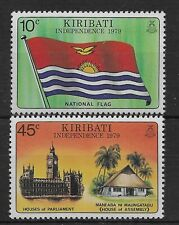 KIRIBATI 1979 SG84-85 Independence. Set Mint MNH Flag
