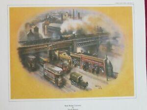 1979 Vintage David Weston Print West Bridge Leicester fc34