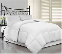 White Goose Over Filled Feather Down Comforter & Pillow Set -SIZE TWIN NEW