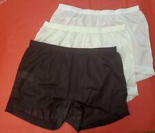 3 Pair Size 9 Daisy Duke Style Assorted 100% Nylon HIP HUGGER PANTIES  USA Made