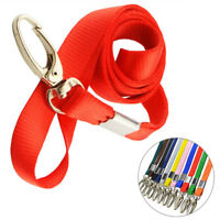 10 Pieces Colorful Nylon Lanyard Neck Strap Keychain For Badge ID Card Holder