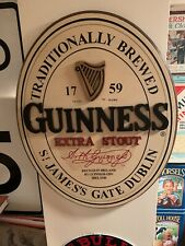 Guinness Extra Stout 3D Oval Wooden Pub Sign