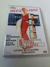 "DVD ""5 CONTRA LA BANCA"" COMO NUEVO PHIL KARLSON KIM NOVAK GUY MADISON BRIAN KEIT"
