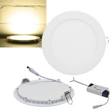 slim LED Panel rund Deckenleuchte Decken-Einbauleuchte Deckenlampe Ultraflach A+