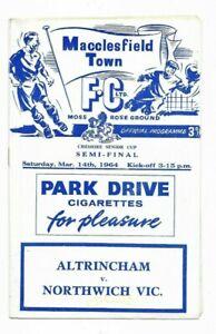 1964 Cheshire Senior Cup Semi Final - ALTRINCHAM v. NORTHWICH VICTORIA