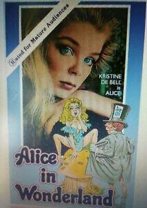 "Alice in Wonderland, Kristine DeBell, Lewis Carroll, ""R"" Rated Version DVD, 2006"