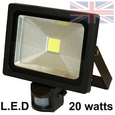 LED PIR Motion Detector Outside Lamp Floodlight Light 20W Black