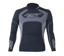 RST TECH X COOLMAX Long Sleeve Top Base Layer Motorcycle Black/Grey Clothing