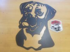 Boxer Metal Wall Art Plasma Cut Home Decor Gift Idea Dog