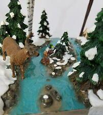 52720 Dept 56 Woodland Animals At Mill Creek Deer Rabbit Trees Village Accessory