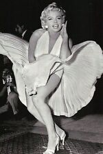 Marilyn Monroe during Filming of Movie The Seven Year Itch 1954, Modern Postcard