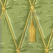 Waverly TROMPE L'OEIL TASSEL PEAR Green Home Decor Drapery Sewing Fabric BTY