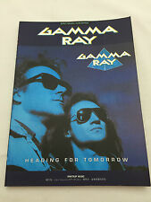 Used! GAMMA RAY -Heading For Tomorrow- JAPAN Band Score Guitar TAB Kai Hansen