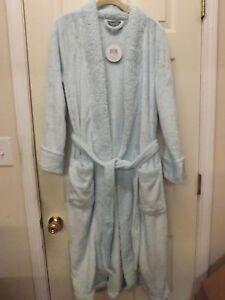 Velvet Soft Full Length Robe w/ Sherpa Collar by Berkshire-Lt Blue-Med-H212279