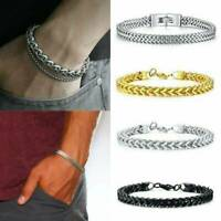 Silver Gold Men's Stainless Steel Keel Chain Link Bracelet Wristband Bangle Gift