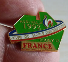 PIN'S COQ RUGBY A XIII 13 FEDERATION FRANCE AUSTRALIE 1992 COUPE DU MONDE