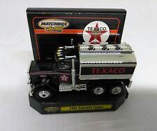 MATCHBOX 1/64 SCALE DIE CAST TEXACO PETERBILT TANKER SEMI TRUCK W/ RUBBER TIRES