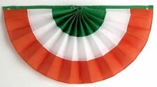 "36"" Irish Flag Pleated Bunting -  St. Patrick's Day Decoration"