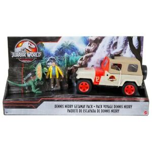 Jurassic Park Legacy Collection Nedry Diloposaurus Getaway Jeep Pack Toy New