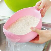 Food Grade Plastic Rice Beans Peas Washing Filter Strainer Basket Sieve Drainer