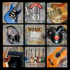 GUITAR ART PRINT Music Patch Music Makes Life Note Worthy Jim Baldwin