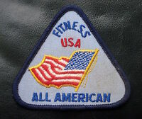 "FITNESS USA ALL AMERICAN EMBROIDERED SEW ON PATCH AMERICAN FLAG 2 1/2"" x 3"""