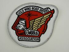 "Gold Wing Road Riders Association Patch GWRRA Red & Silver Round 4"" Embroidered"