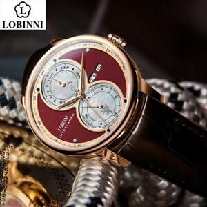 LOBINNI Automatic Mechanical watch men мужские часы relogio waterproof luxury la