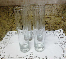 Set of Four Tall & Slim  Libby Shot Glasses Barware
