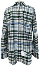 NEW, THOM BROWNE MEN'S PLAID BUTTON DOWN SHIRT, 3, $750