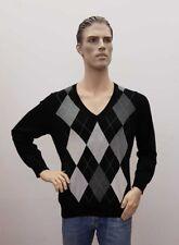 C&A Langarm Pullover Herren schwarz kariert Männer XL (1809A-BR-OH#) 04/2020SD