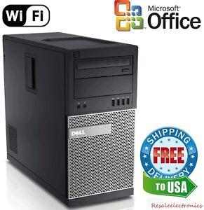 Dell Optiplex Tower PC 790/990 Windows 7/10 Intel i5/i7 Quad Core 4GB, 8GB, 16GB