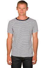 Ugholin Camiseta Marinero para Hombre Algodón Cuello Redondo de Manga Corta
