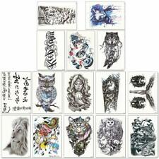 Exclusive Large Temporary Tattoos Half Arm Tattoo Sleeves Lion Owl Skull Dragon