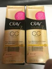 2 Olay Total Effects Pore Minimizing CC Cream Fair to Light 1.7fl oz (50mL) RARE