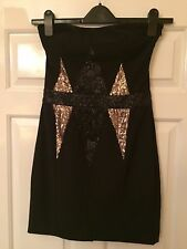 Stunning House Of Dereon BEYONCÉ Collection Black Sequinned Dress Black