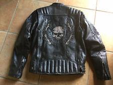 Cool Harley Davidson Skull Riding Gear Lederjacke Herren Leather Jacket M