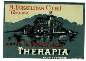 HOTEL TOKATLIAN luggage DECO label (ISTANBUL)